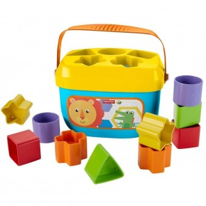 Fisher-Price Baby's First Blocks with Storage Bucket (Primeros bloques del bebé, con cubo de almacenamiento)